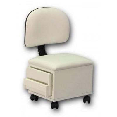 כסא לפדיקוריסטית עם מגירות